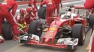 Kanada GP: Button'ın yarış dışı kalışı ve Vettel'in ilk pit stopu