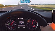Mercedes A45 AMG Onboard Autobahn Top Speed Acceleration Sound Drive 2016 Version 381 HP