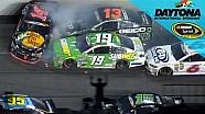 Tony Stewart wrecks late at Daytona