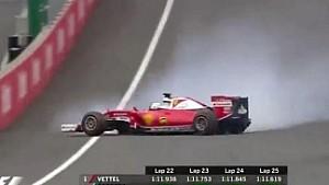 Avusturya GP: Vettel'in yarış dışı kaldığı an