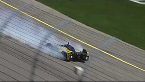 Marco Andretti big spin at Iowa