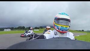 Los pilotos de McLaren cara a cara en el Karting Fernando Alonso