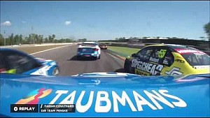 Lee Holdsworth crashes at the 2016 CrownBet Darwin Triple Crown