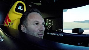 Christian Horner takes up Red Bull simulator challenge