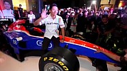 Rio Haryanto at Fastron After Race sharing moment in Jakarta