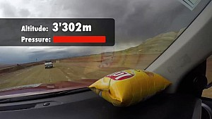 A crisp packet neatly shows Dakar Rally's altitude