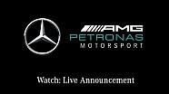 Livestream: Rijdersaankondiging Mercedes Formule 1