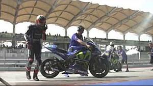 Test Rossi en Viñales met Yamaha op Sepang