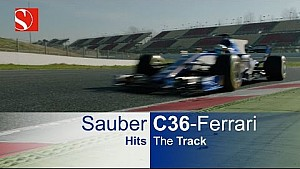 First look: Sauber C36 Ferrari on track