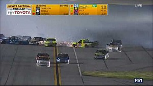 Huge last-lap crash sends Crafton airborne at Daytona