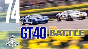 Thrilling 6 lap GT40 Battle
