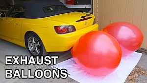 Inflating Balloons With An Exhaust - How Much Air Do Cars Use?