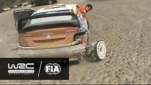Rallye du Mexique 2005 - Loeb sur trois roues!