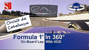 ESPECTACULAR: 360° A bordo vuelta F1 con HUD - Sauber F1 Team