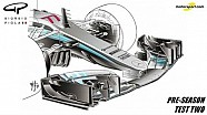 Giorgio Piola - Mercedes W08 voorvleugel & brake duct