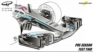 Giorgio Piola - Mercedes W08 front wing & brake duct