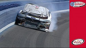 Cole Custer wrecks hard at Auto Club