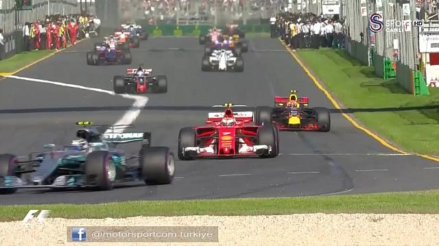 Formula 1 2017 Avustralya GP özet görüntüleri