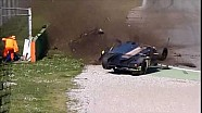 Zware crash in ELMS-test Monza