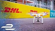 ePrix Mexico, vista desde el drone de DHL