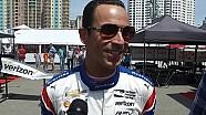 Еліо Кастроневес спілкується з медіа на Гран Прі Лонг-Біч