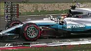Çin GP sıralama turlarının heyecanlı son bölümü
