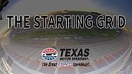 The starting grid: Slip sliding at Texas Motor Speedway