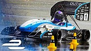 0-100 km/h in 2.15 seconds! Crazy-Quick electric race car from team Delft