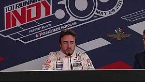 Conferencia de prensa de Fernando Alonso IMS preparación de novato