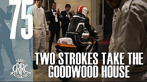 Mighty Grand Prix motorbikes smoke out Goodwood House