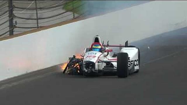 IndyCar Video: Schwerer Unfall von Sebastien Bourdais in Indianapolis