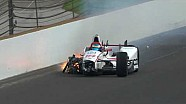 L'incidente di Sebastien Bourdais durante le qualifiche della Indy 500
