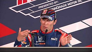 End of day 1 qualifications Takuma Sato news conference