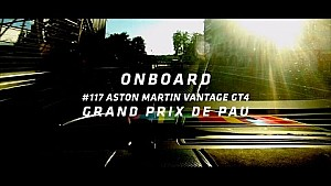 Street Art Aston Martin vantage - Track lap - Grand Prix de Pau 2017