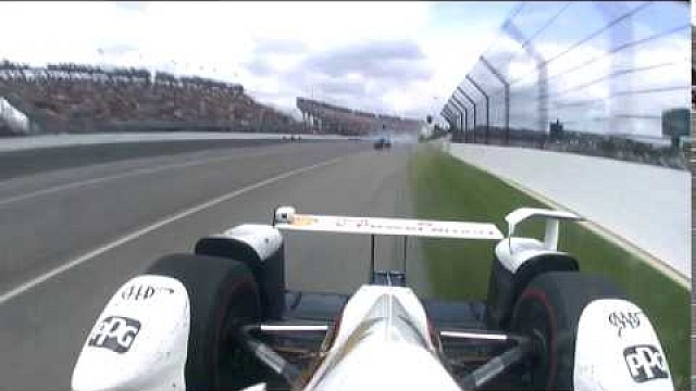 Vista de Castroneves del incidente de Dixon