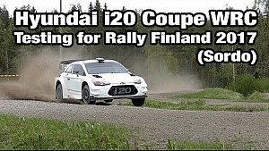 Hyundai i20 Coupe WRC pruebas para el Rally de Finlandia 2017 (Sordo)