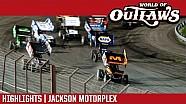 World of Outlaws Craftsman Sprint Cars Jackson Motorplex June 2, 2017 | HIGHLIGHTS