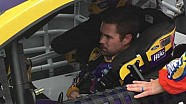 Ricky Stenhouse Jr. Climbs in his little hug Ford at Dover