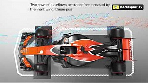 F1 Hava akımı analizi - Ön kanat