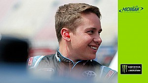 Christopher Bell takes first laps in Monster Energy series car