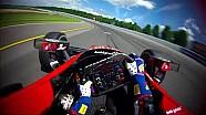 Visor cam: Graham Rahal at Pocono raceway
