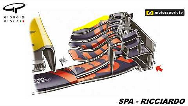 Red Bull RB13: le scelte dell'ala anteriore per Spa