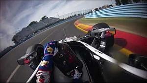 Visor cam: Graham Rahal at Watkins Glen International