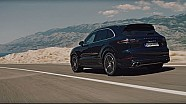 The new Porsche Cayenne Turbo in motion.
