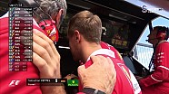Vettel'in yarış dışı kaldıktan sonraki hali