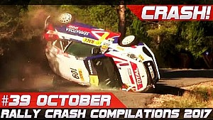 Racingfail! Rally crash compilation week 39 October 2017 (incl. WRC Rally Catalunya)
