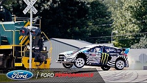 Ken Block's Gymkhana nine extended cut: Train attack | Ford Performance