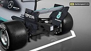 Kerusakan Diffuser Lewis Hamilton - Meksiko 2017
