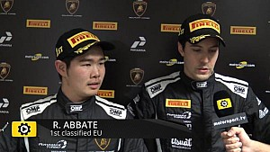 Lamborghini Super Trofeo Round 6 Europe Race 1 - Interview with Abbate and Nemoto