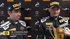 Lamborghini Super Trofeo Round 6 Asia Race 2 - Interview with Cozzolino and Yazid